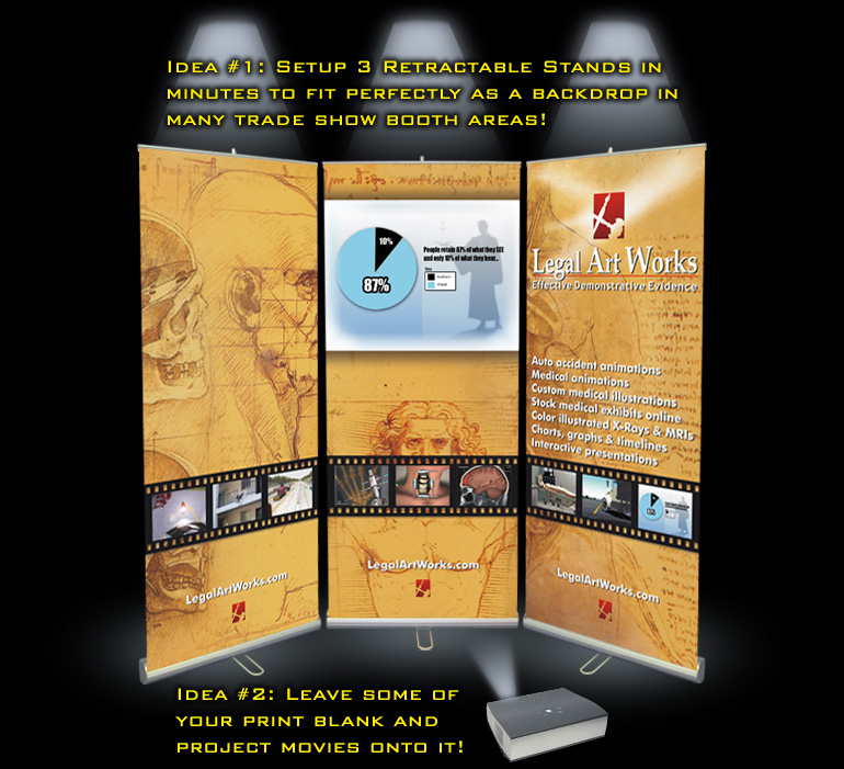 Tradeshow Display Retractable Banner Stands
